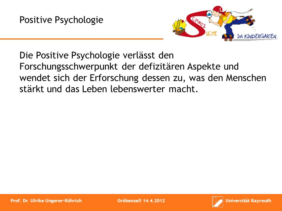 Universität Bayreuth Positive Psychologie.