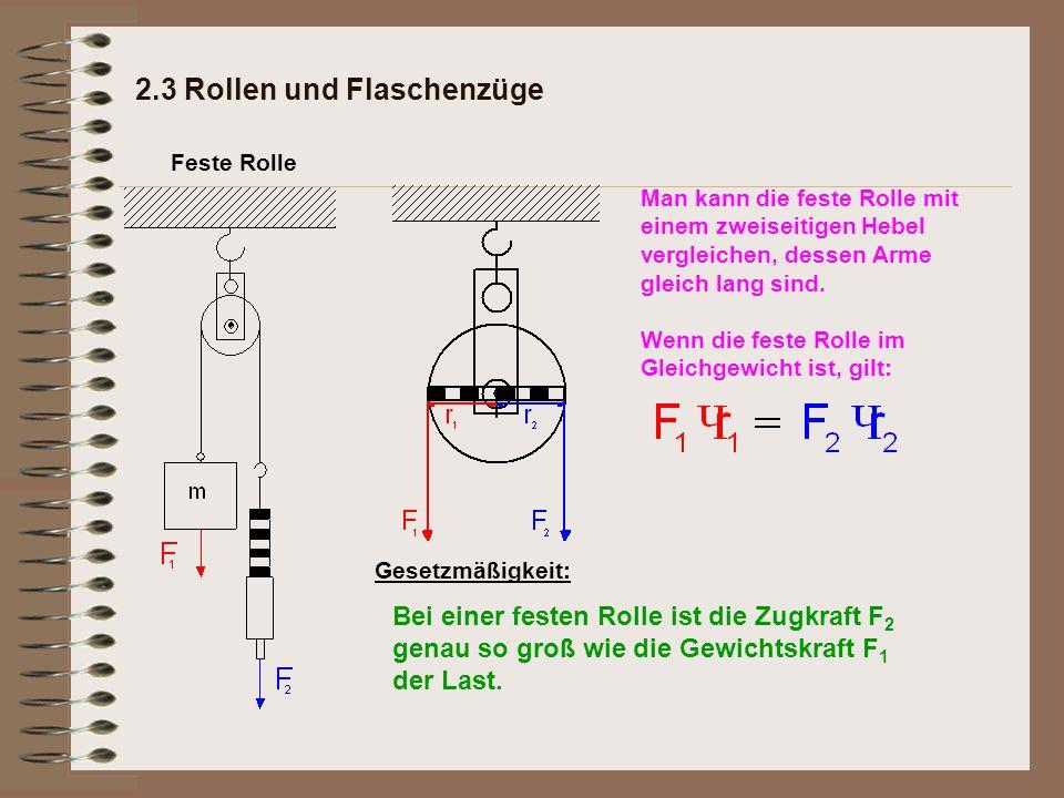2.3 Rollen und Flaschenzüge