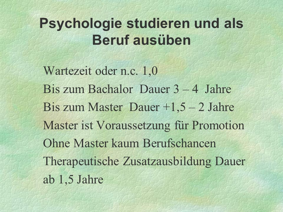Psychologie studieren und als Beruf ausüben