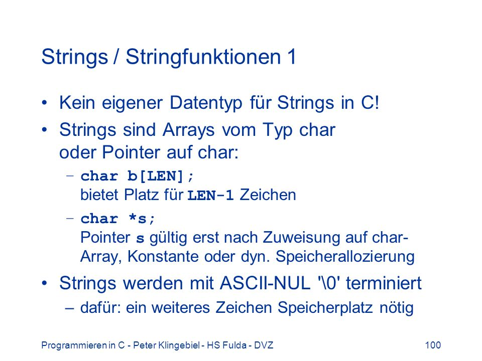 Strings / Stringfunktionen 1