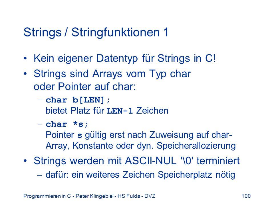 Strings / Stringfunktionen 1