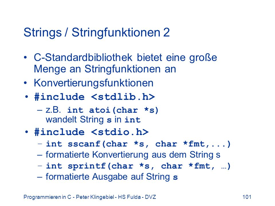 Strings / Stringfunktionen 2