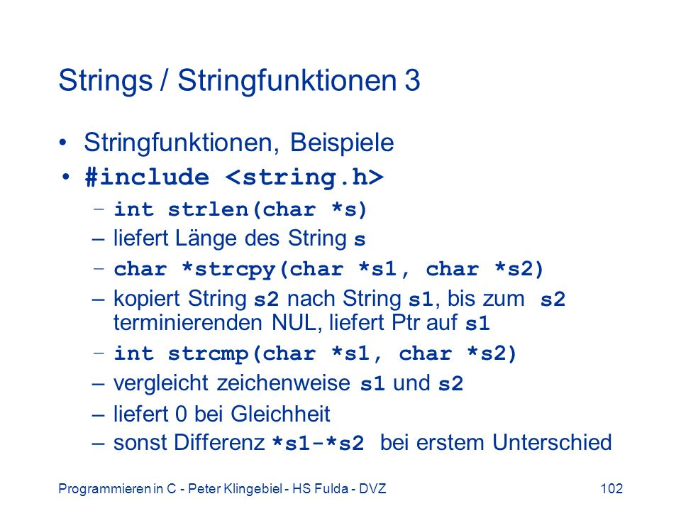 Strings / Stringfunktionen 3