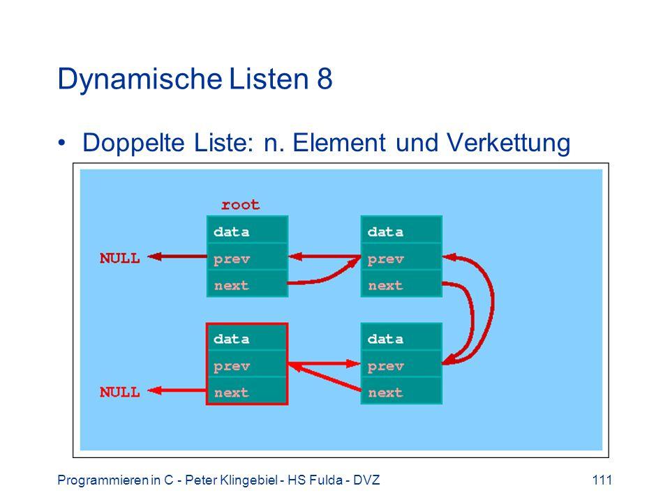 Dynamische Listen 8 Doppelte Liste: n. Element und Verkettung