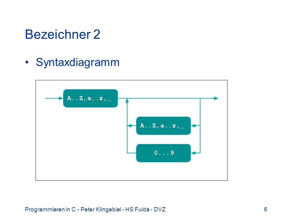 Bezeichner 2 Syntaxdiagramm