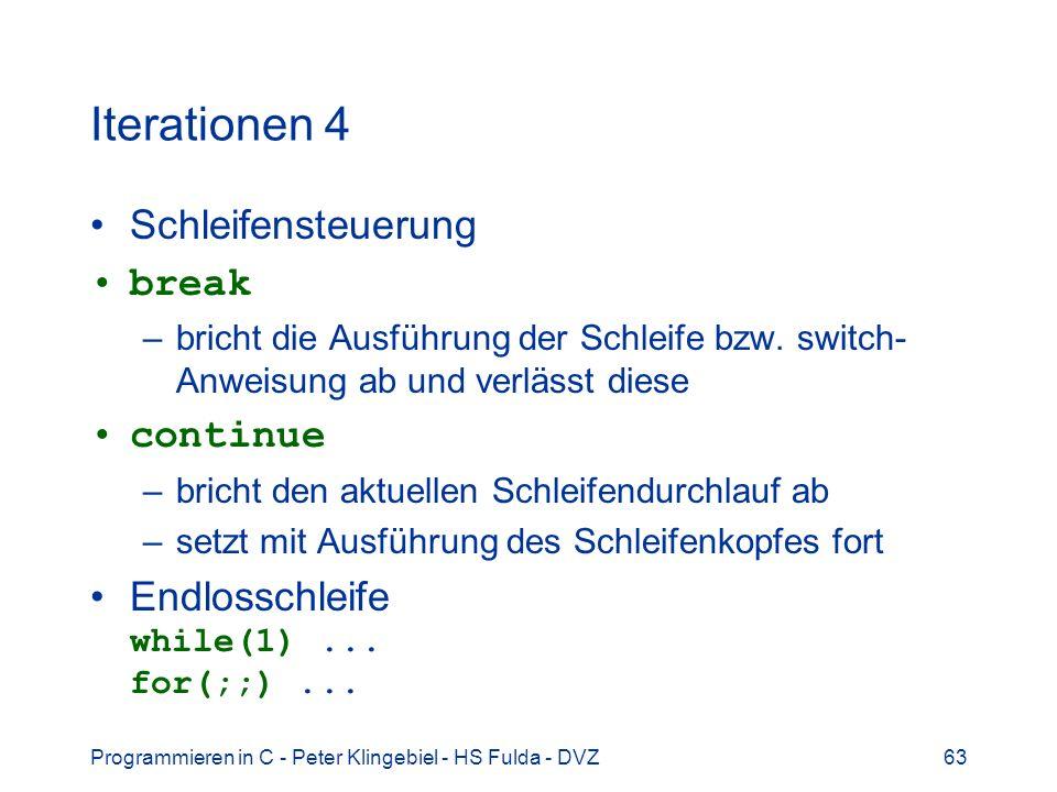 Iterationen 4 Schleifensteuerung break continue