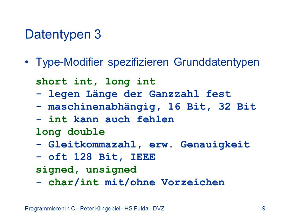 Datentypen 3