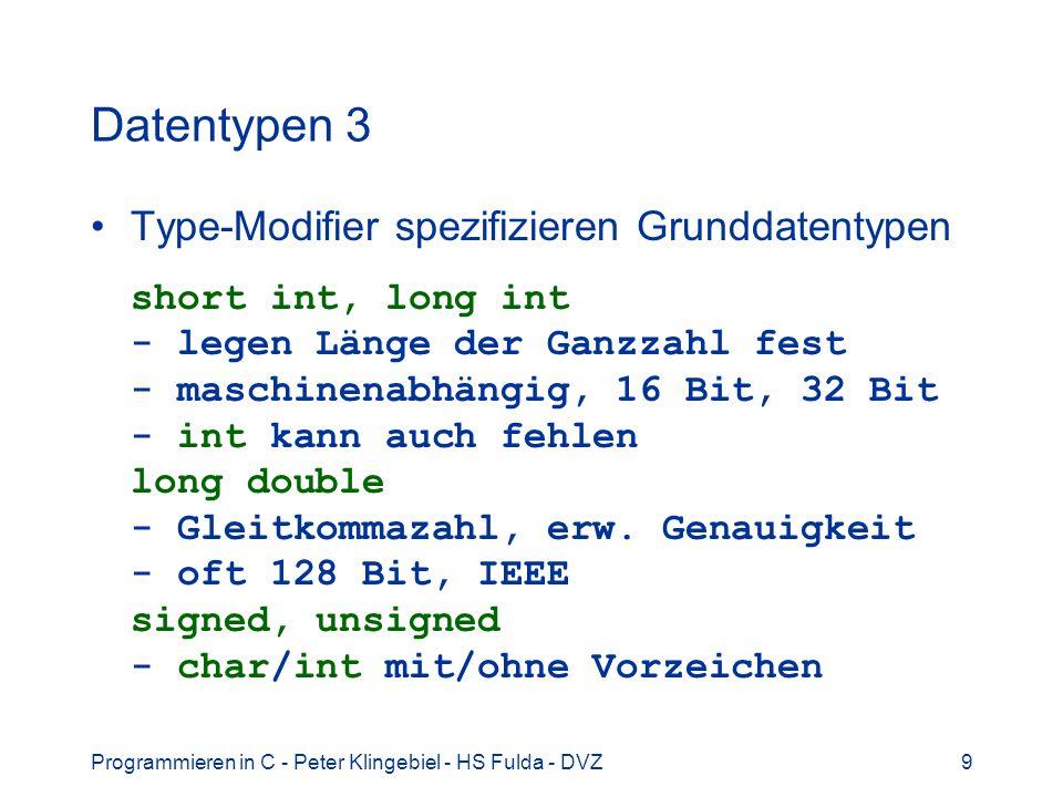 Datentypen 3