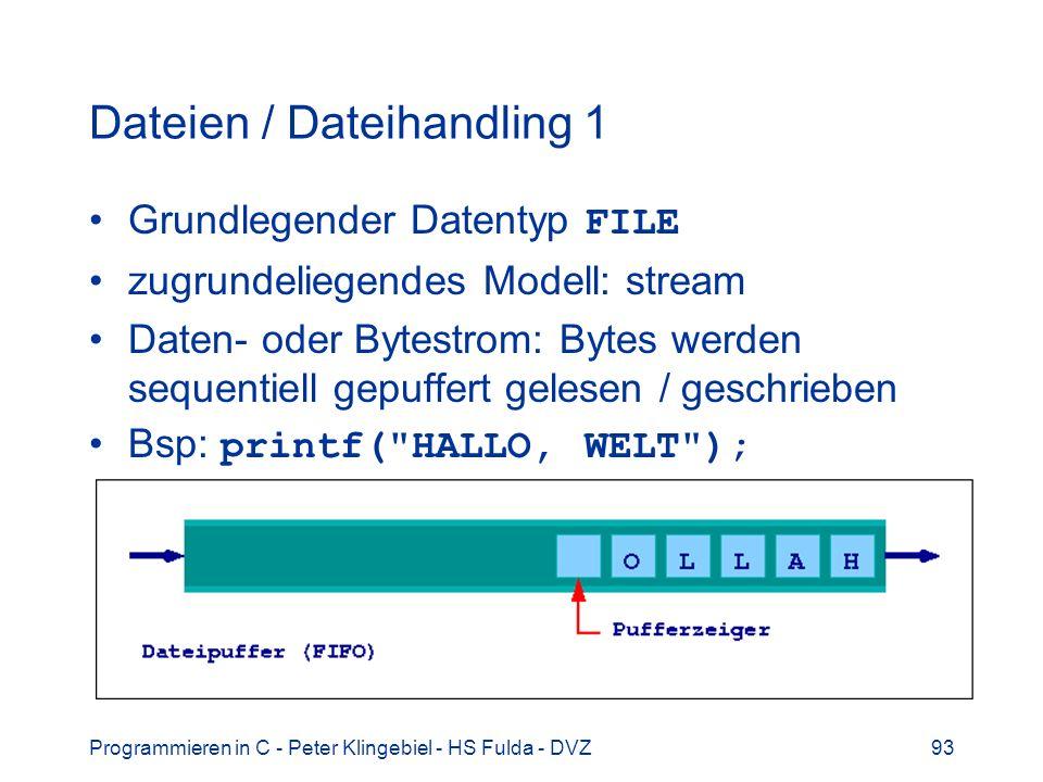 Dateien / Dateihandling 1