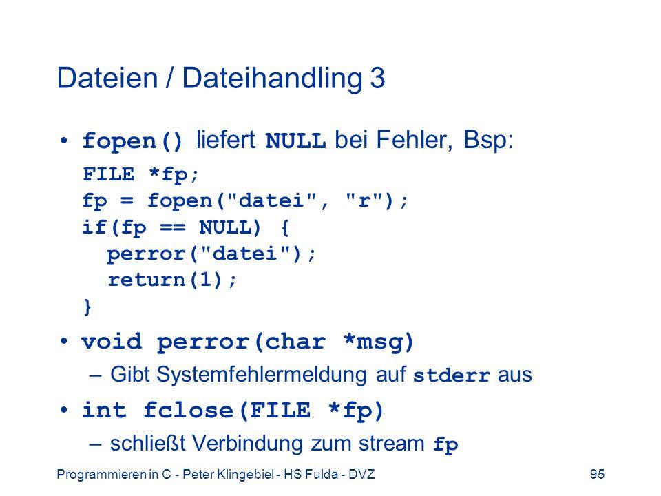 Dateien / Dateihandling 3