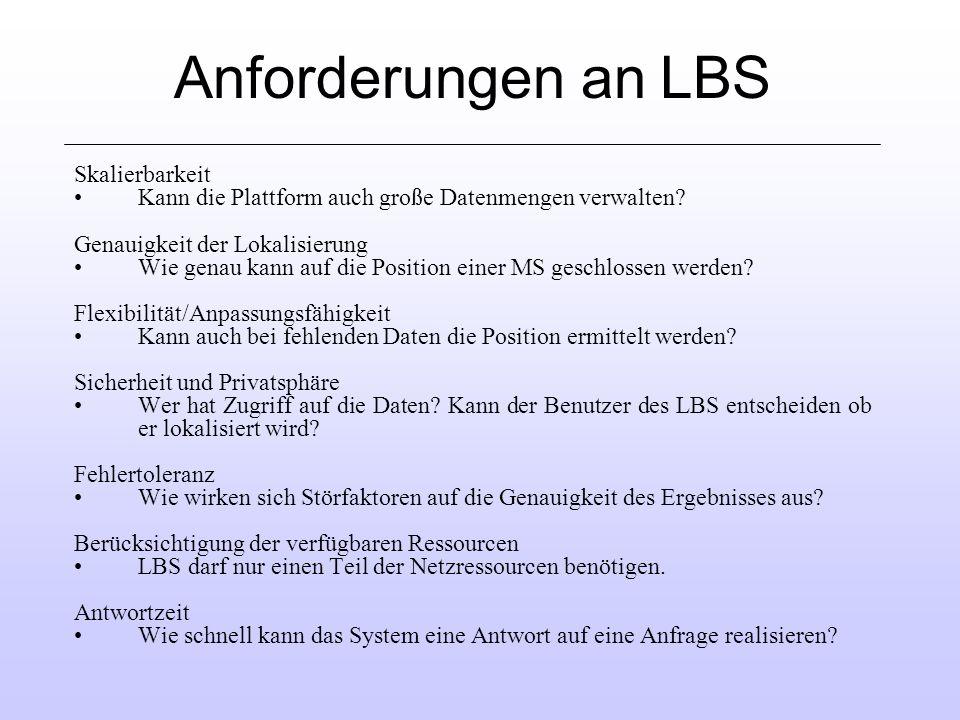 Anforderungen an LBS Skalierbarkeit