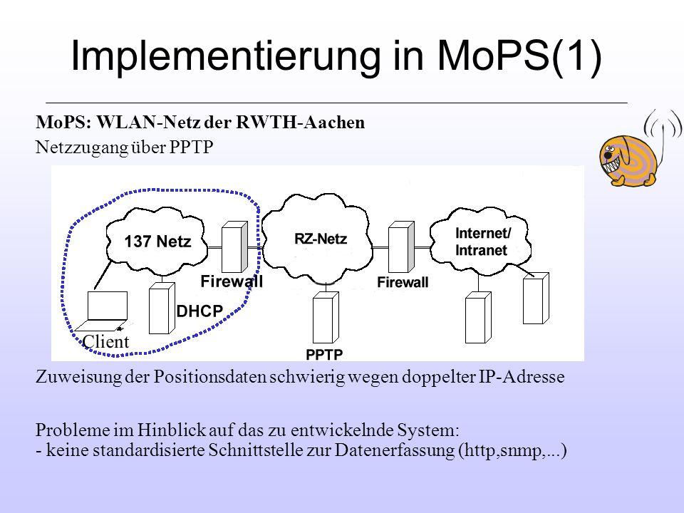 Implementierung in MoPS(1)