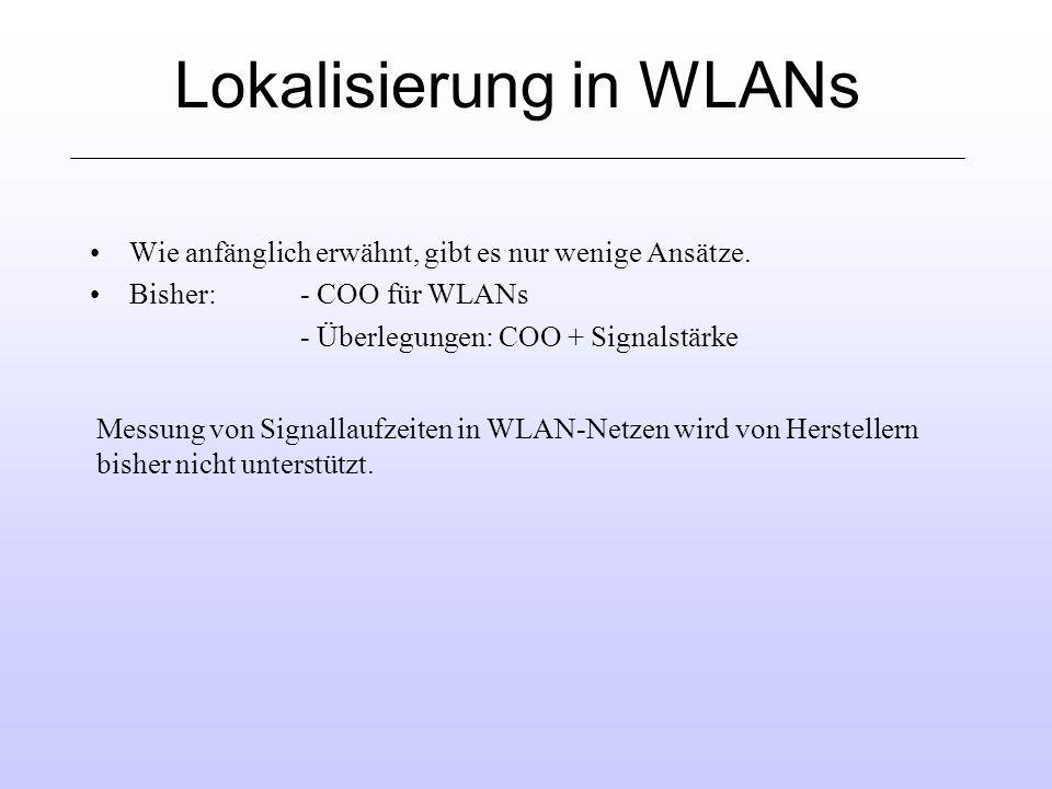 Lokalisierung in WLANs