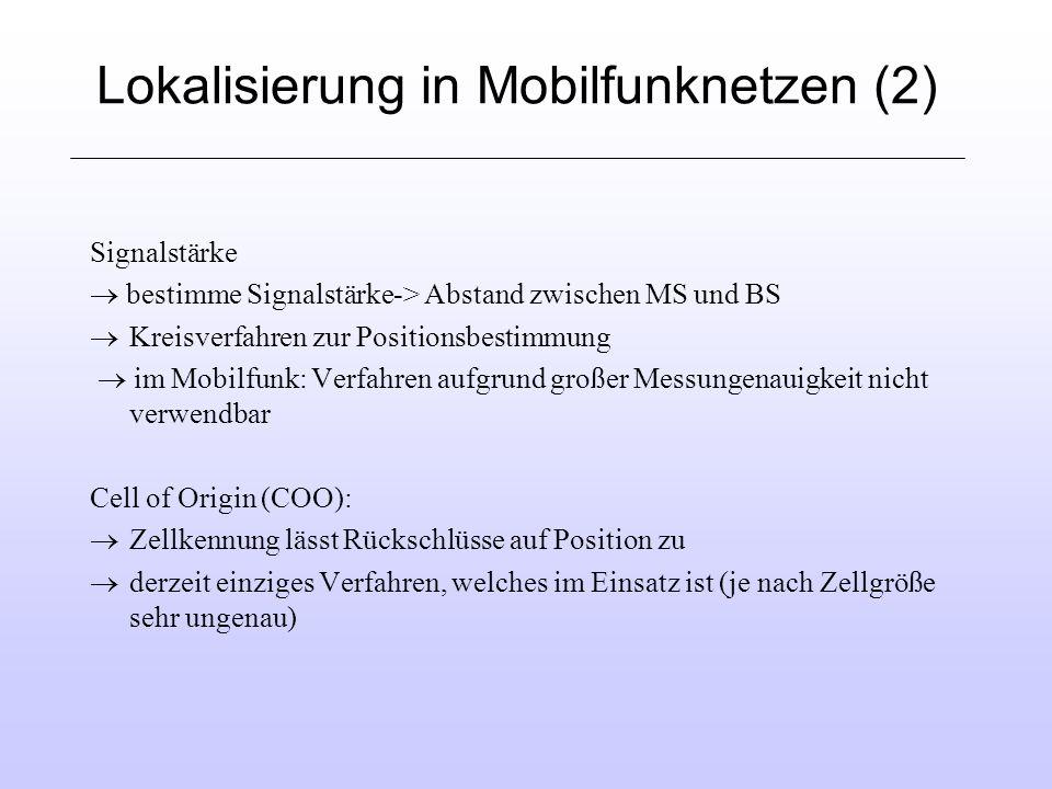 Lokalisierung in Mobilfunknetzen (2)