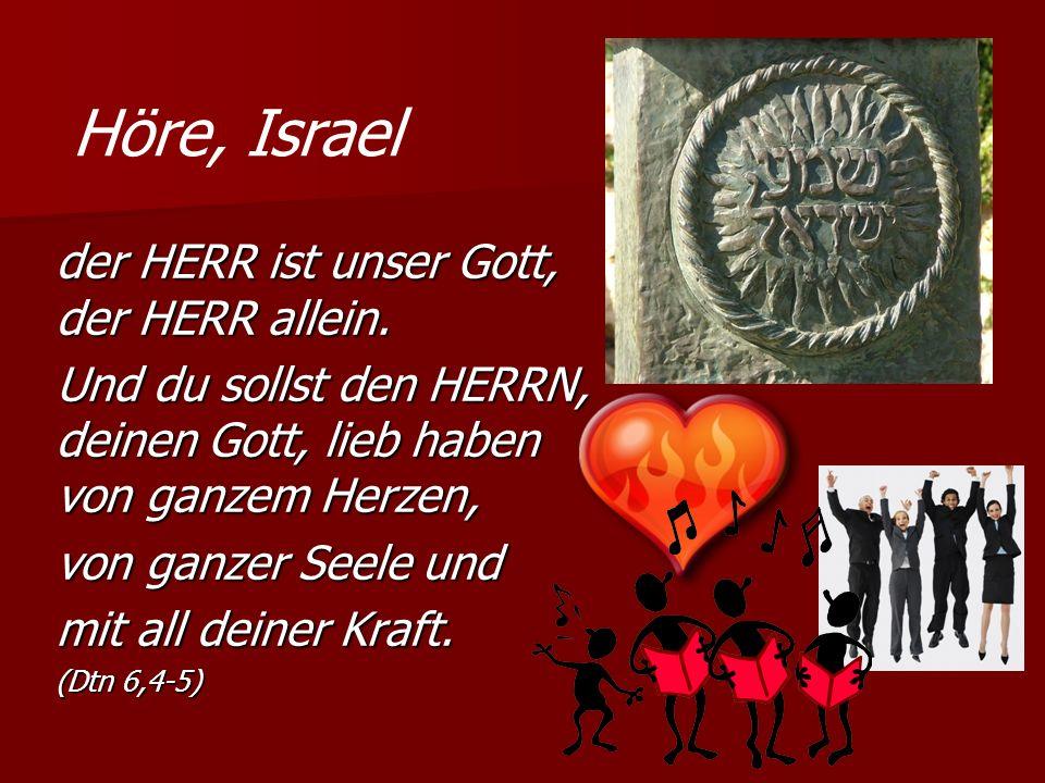 Höre, Israel der HERR ist unser Gott, der HERR allein.