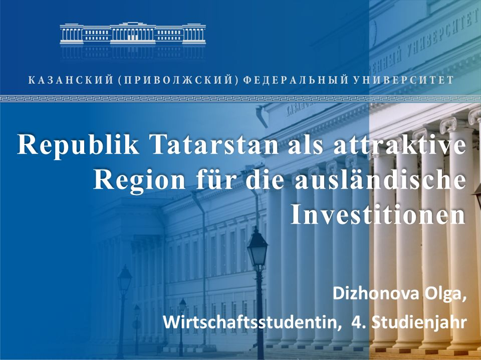 Dizhonova Olga, Wirtschaftsstudentin, 4. Studienjahr