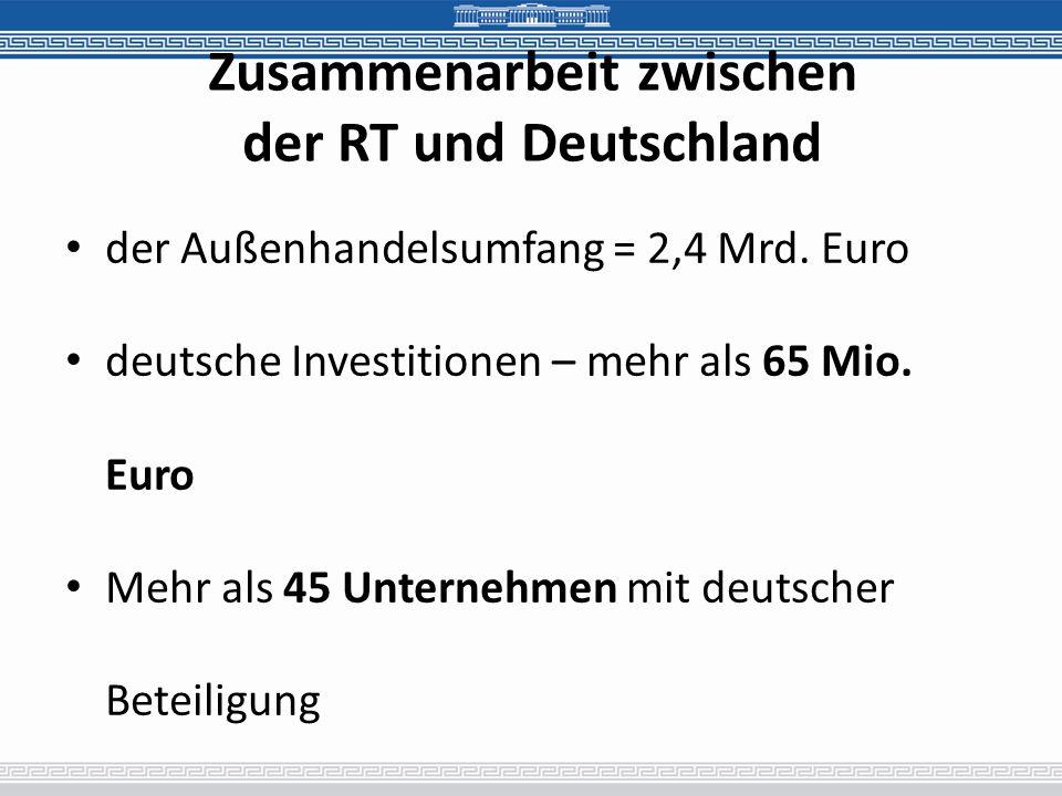 Zusammenarbeit zwischen der RT und Deutschland