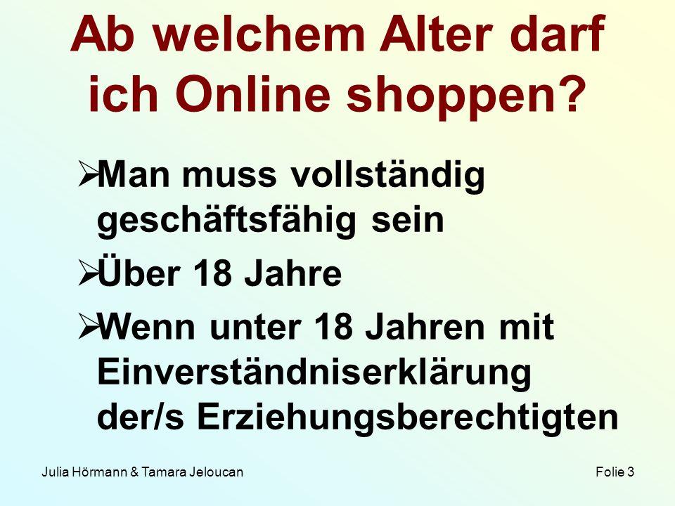 Ab welchem Alter darf ich Online shoppen