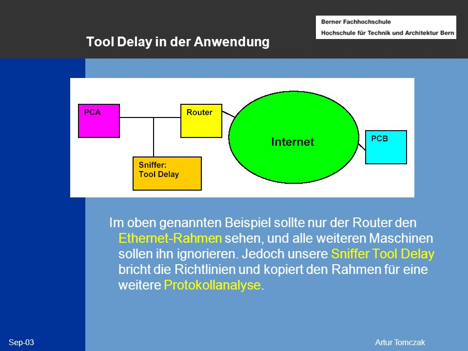 Tool Delay in der Anwendung
