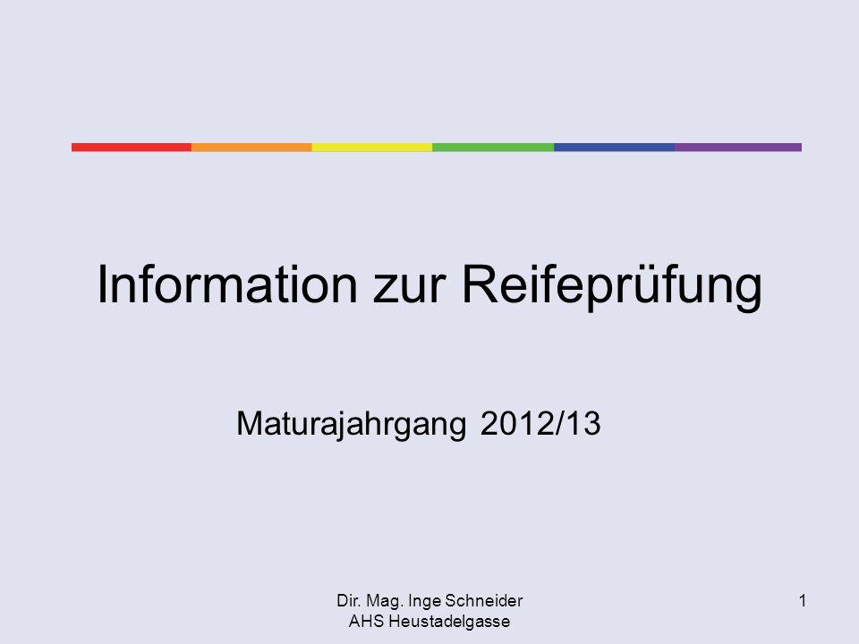 Information zur Reifeprüfung