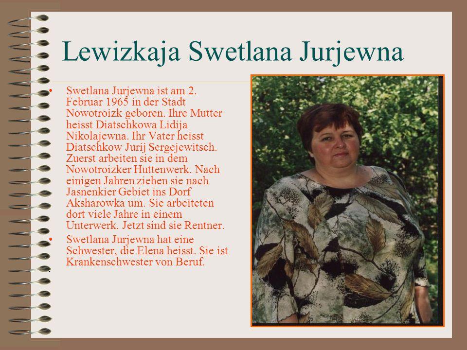 Lewizkaja Swetlana Jurjewna