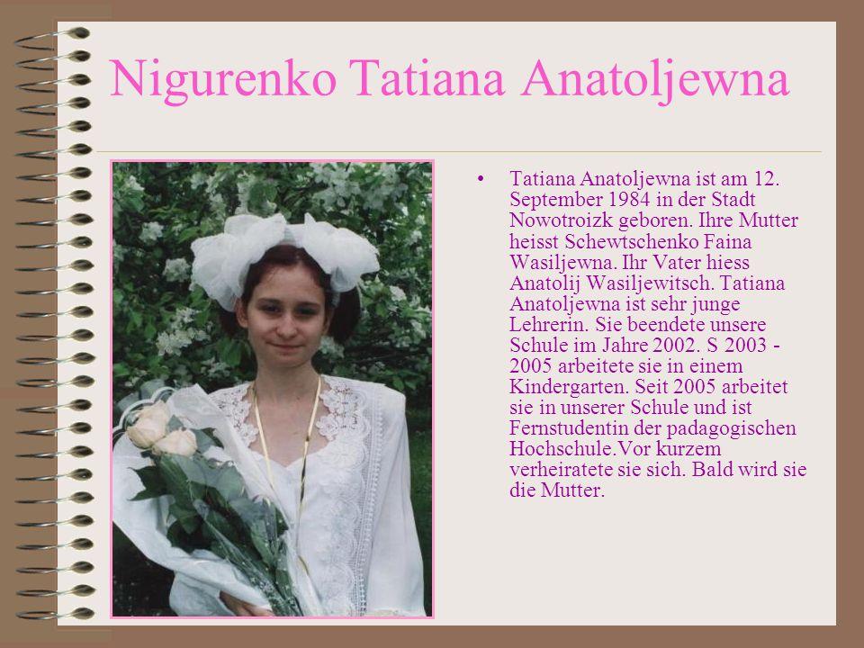 Nigurenko Tatiana Anatoljewna