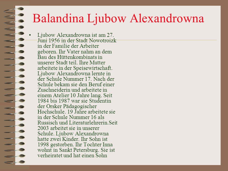 Balandina Ljubow Alexandrowna