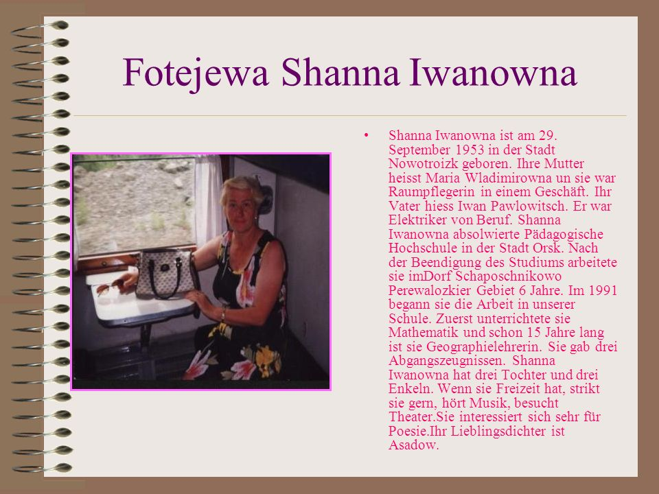 Fotejewa Shanna Iwanowna