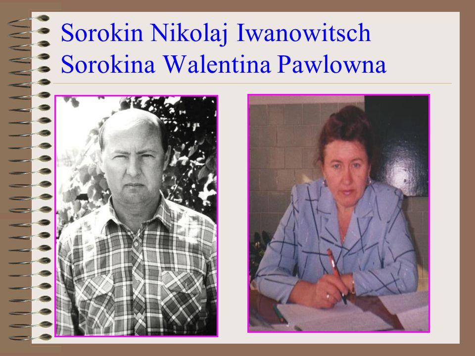 Sorokin Nikolaj Iwanowitsch Sorokina Walentina Pawlowna
