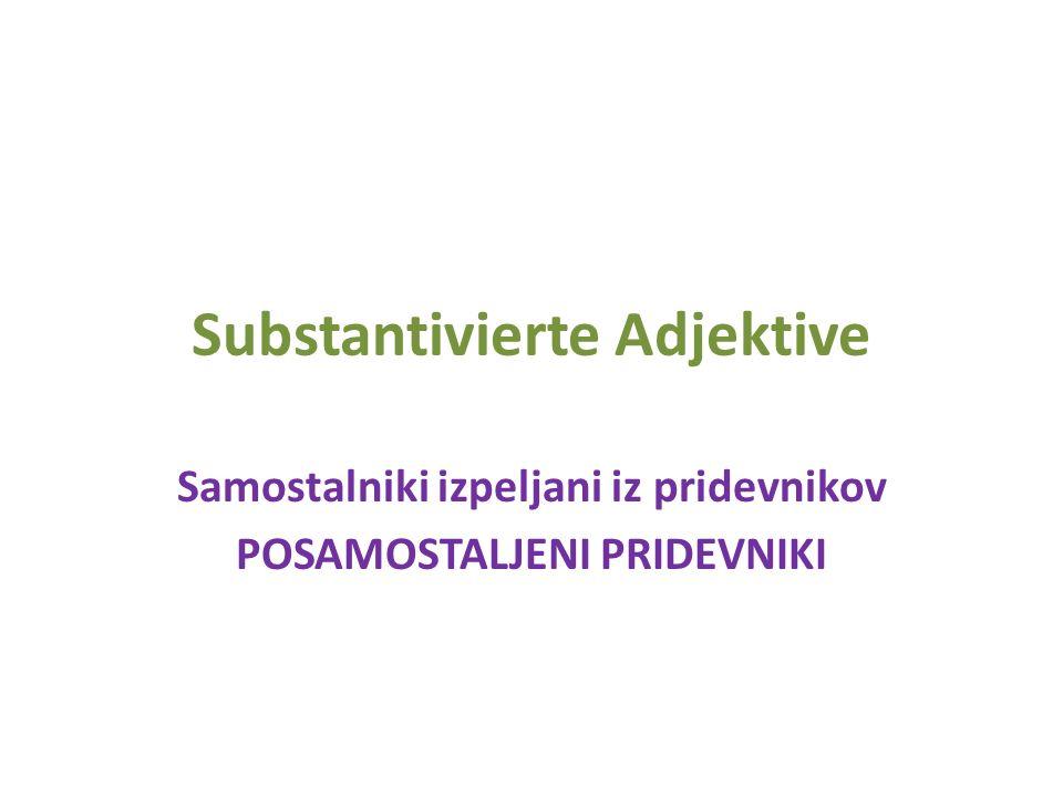 Substantivierte Adjektive