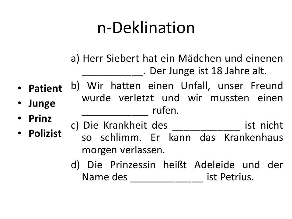 herr n deklination
