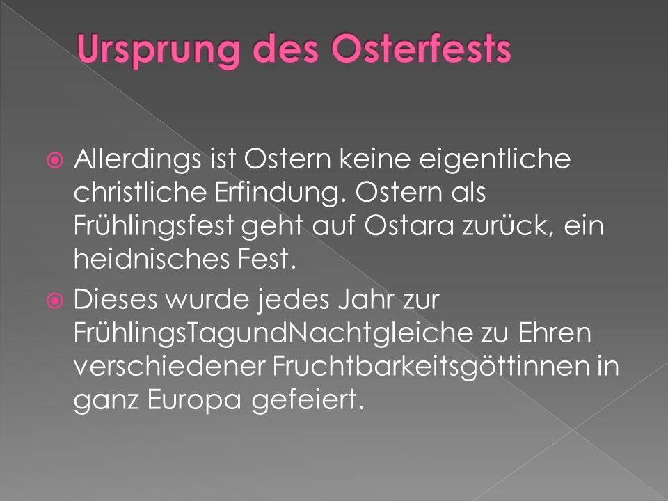 Ursprung des Osterfests
