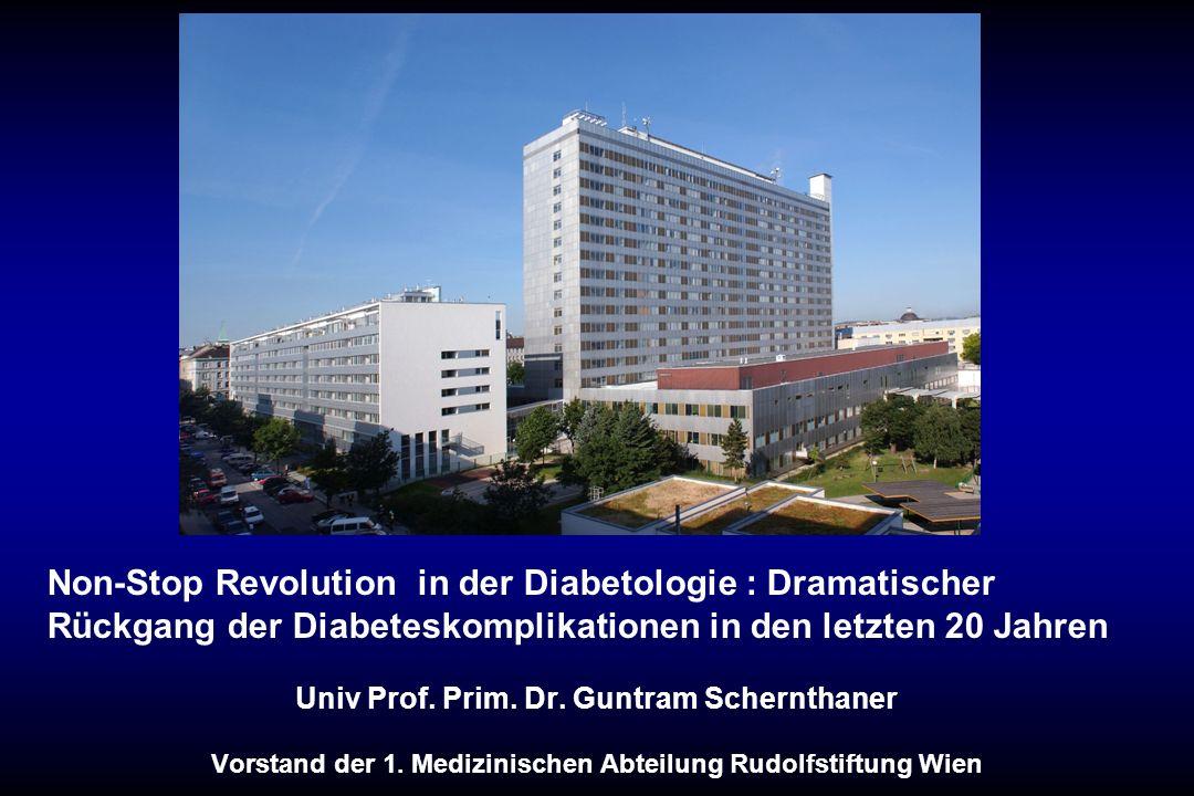 Non-Stop Revolution in der Diabetologie : Dramatischer Rückgang der Diabeteskomplikationen in den letzten 20 Jahren