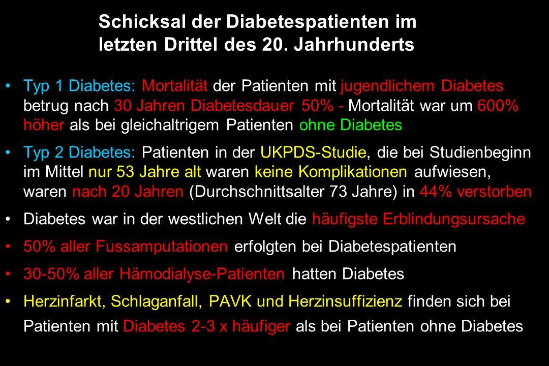 Schicksal der Diabetespatienten im letzten Drittel des 20. Jahrhunderts