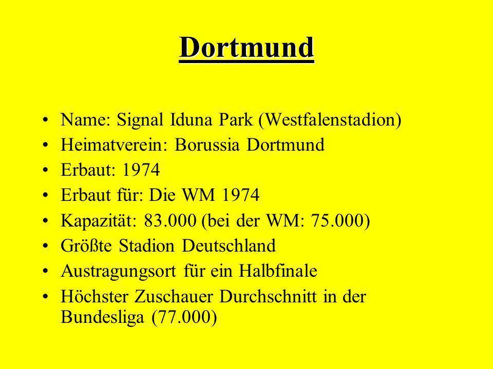 Dortmund Name: Signal Iduna Park (Westfalenstadion)