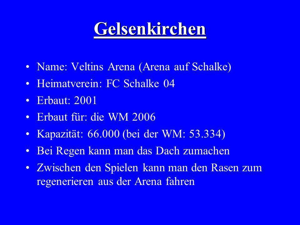Gelsenkirchen Name: Veltins Arena (Arena auf Schalke)