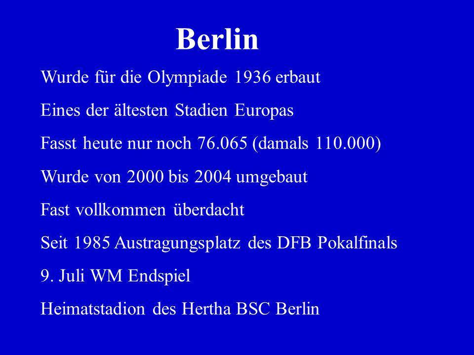 Berlin Wurde für die Olympiade 1936 erbaut