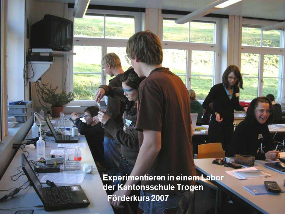 Experimentieren in einem Labor
