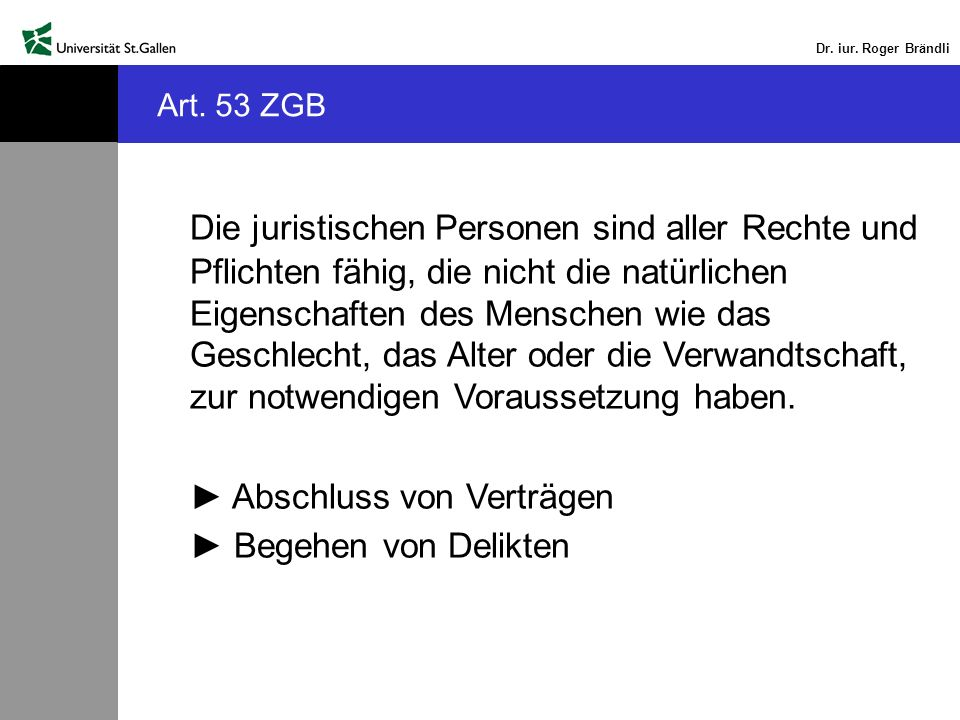 Art. 53 ZGB