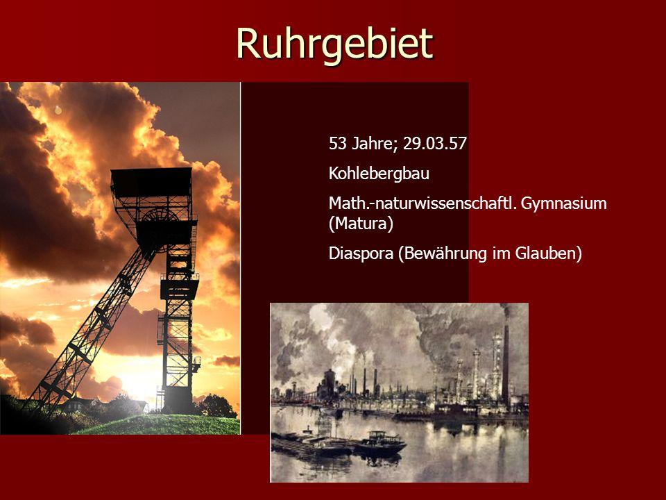 Ruhrgebiet 53 Jahre; 29.03.57 Kohlebergbau