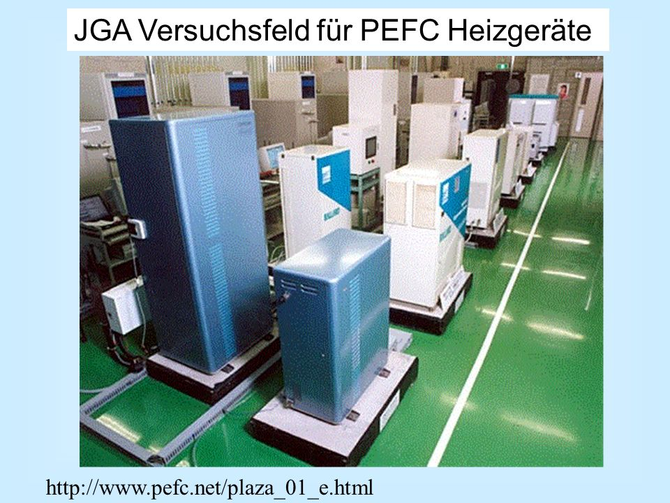 JGA Versuchsfeld für PEFC Heizgeräte