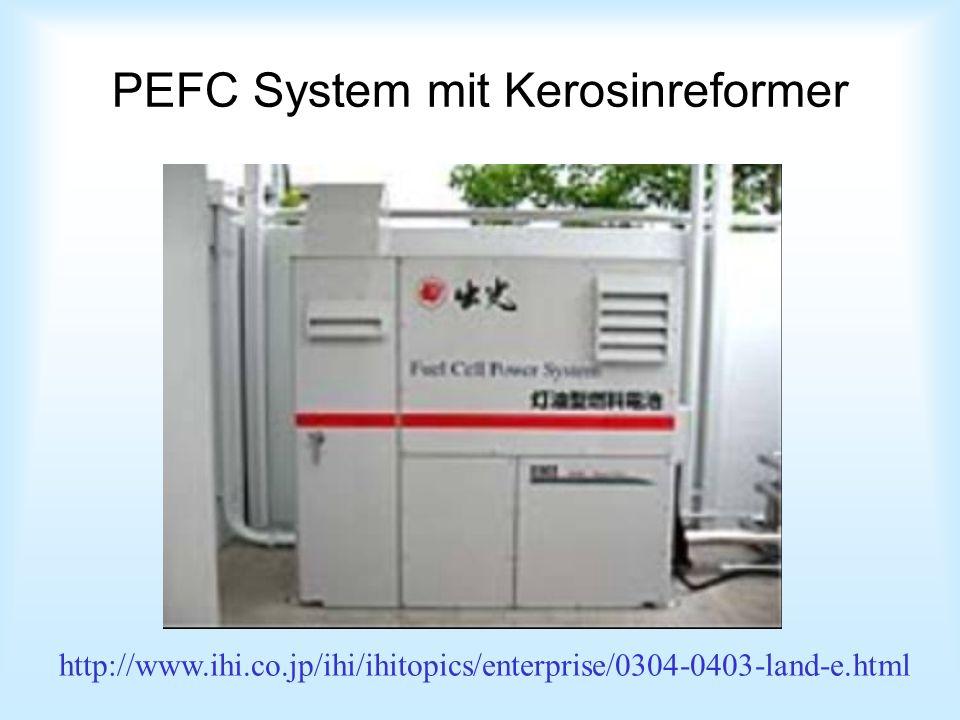 PEFC System mit Kerosinreformer