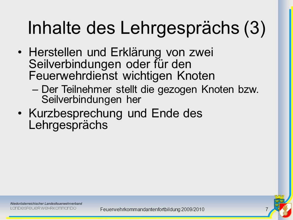 Inhalte des Lehrgesprächs (3)