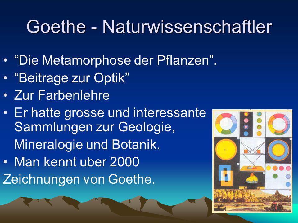 Goethe - Naturwissenschaftler