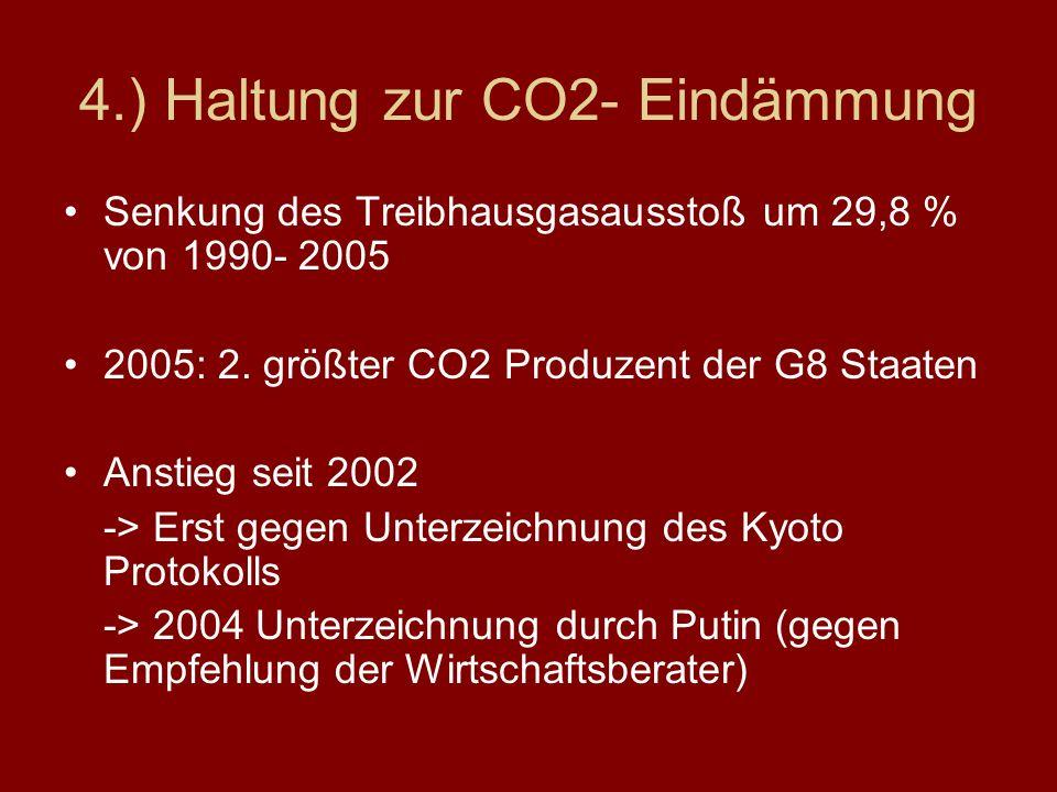 4.) Haltung zur CO2- Eindämmung