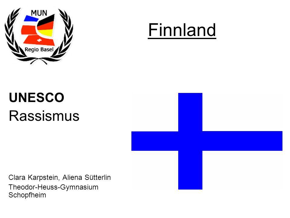 Finnland Rassismus UNESCO Clara Karpstein, Aliena Sütterlin