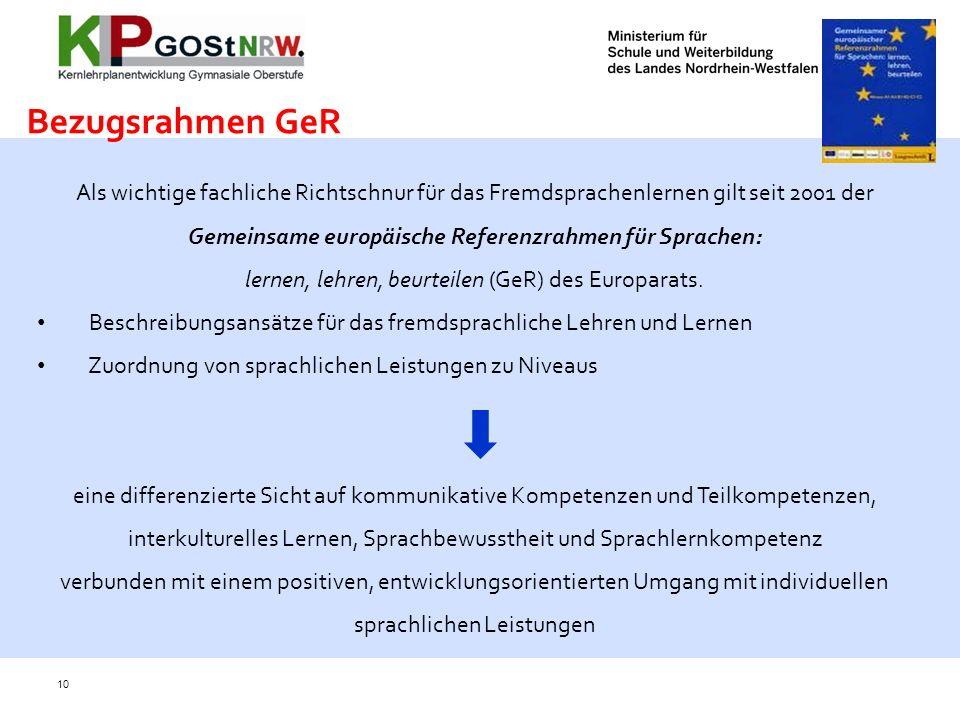 lernen, lehren, beurteilen (GeR) des Europarats.