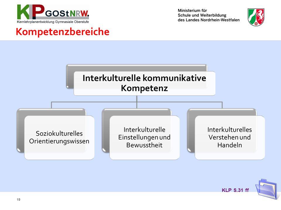 Kompetenzbereiche KLP S.31 ff 19
