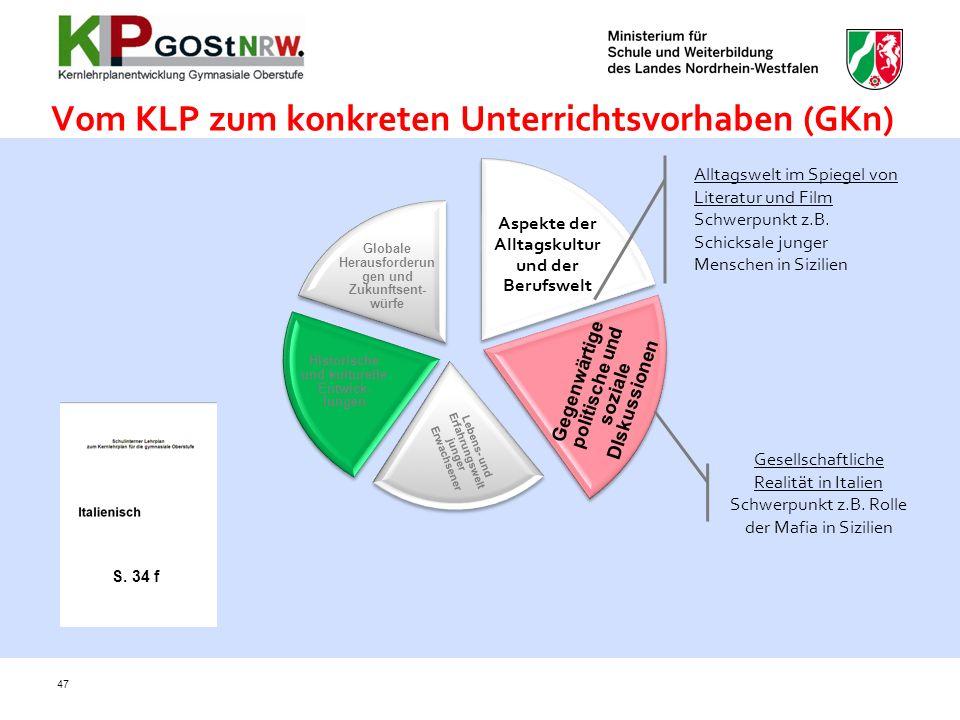 Vom KLP zum konkreten Unterrichtsvorhaben (GKn)
