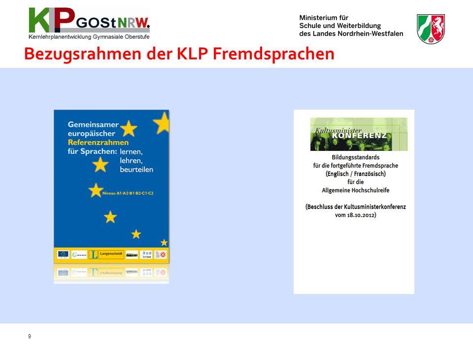 Bezugsrahmen der KLP Fremdsprachen
